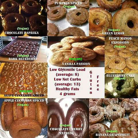 "Photo of Raphael's Donuts  by <a href=""/members/profile/RaphaelsDonuts"">RaphaelsDonuts</a> <br/>Raphael's Donuts 11 yearround vegan low glycemic flavors in whole wheat version for those who still love their whole wheat donuts! <br/> April 8, 2018  - <a href='/contact/abuse/image/113703/382565'>Report</a>"