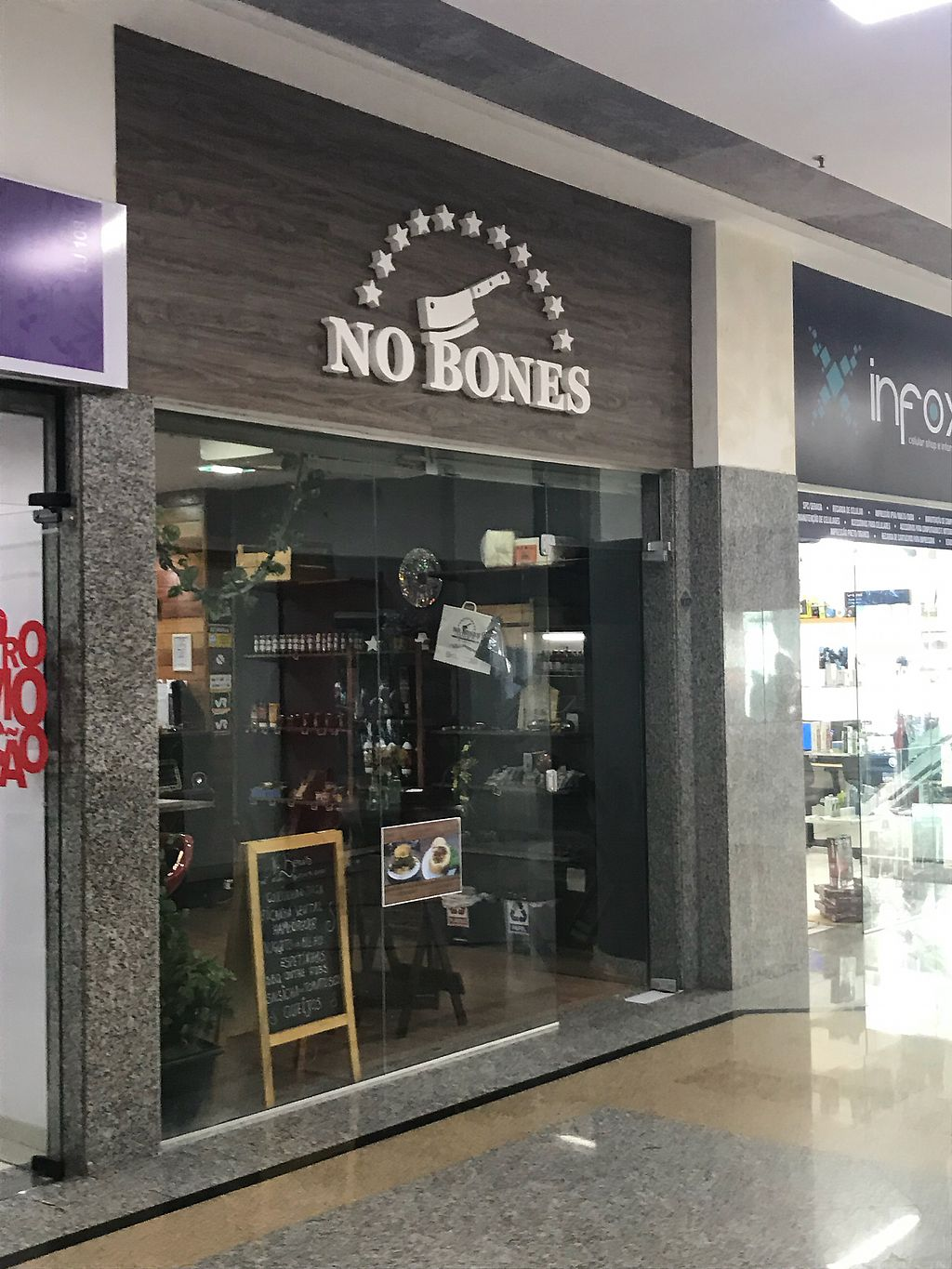 "Photo of No Bones - The Vegan Butcher Shop  by <a href=""/members/profile/rackoo"">rackoo</a> <br/>Storefront in small indoor mall <br/> May 9, 2018  - <a href='/contact/abuse/image/113797/397539'>Report</a>"