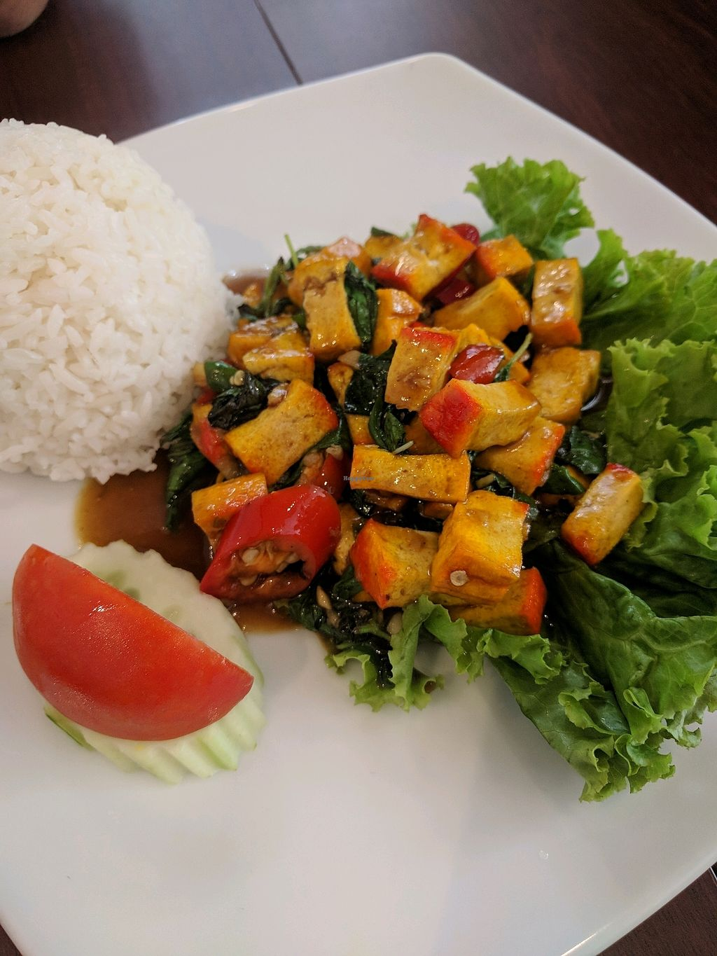 "Photo of ThaiExpress  by <a href=""/members/profile/VeganSoapDude"">VeganSoapDude</a> <br/>Spicy tofu <br/> March 6, 2018  - <a href='/contact/abuse/image/113826/367557'>Report</a>"