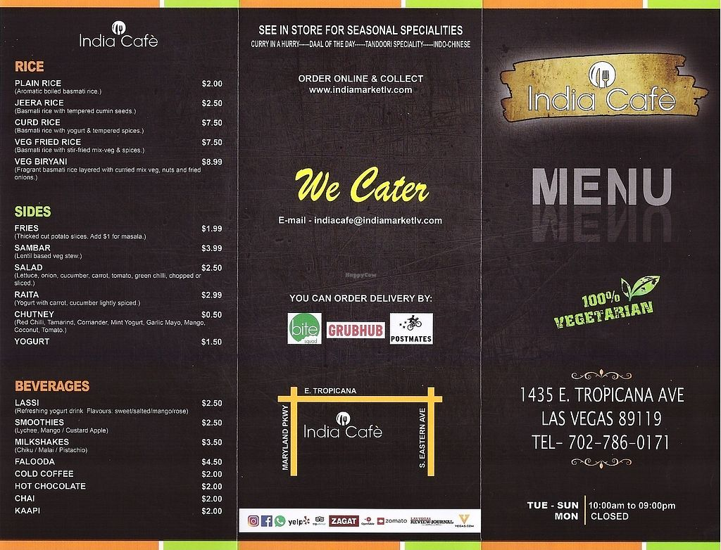 """Photo of India Cafe  by <a href=""""/members/profile/JohnG"""">JohnG</a> <br/>India Cafe Menu 2 <br/> March 7, 2018  - <a href='/contact/abuse/image/113889/367650'>Report</a>"""