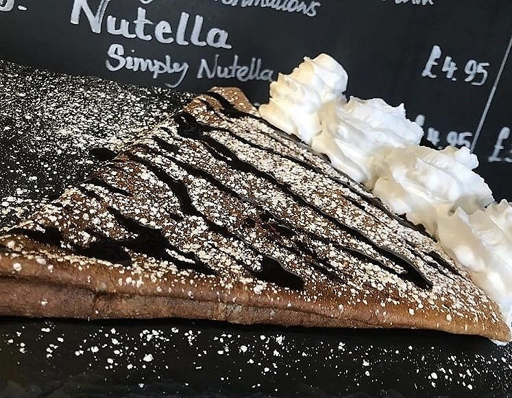 """Photo of La Boîte  by <a href=""""/members/profile/DaniellaS"""">DaniellaS</a> <br/>Vegan Crêpe with Vegan Chocolate and Vegan Cream and Vegan Mallows <br/> March 29, 2018  - <a href='/contact/abuse/image/113936/377688'>Report</a>"""