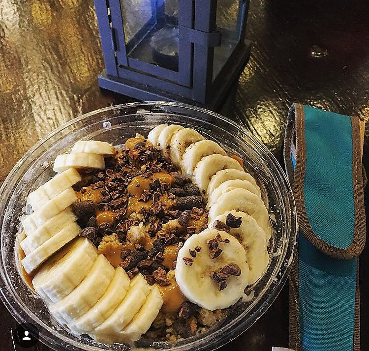 """Photo of Playa Bowls  by <a href=""""/members/profile/AndreaBugyis"""">AndreaBugyis</a> <br/>Chia pudding (vegan flavor) with bananas and raw cacao  <br/> March 8, 2018  - <a href='/contact/abuse/image/113939/368126'>Report</a>"""