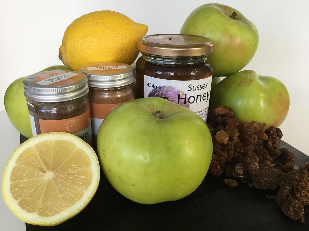 """Photo of Baileys Artisan Gelato  by <a href=""""/members/profile/MargaretBailey"""">MargaretBailey</a> <br/>This is what goes into our delicious 'Baked Apple' vegetarian sorbetto! <br/> March 7, 2018  - <a href='/contact/abuse/image/113940/367889'>Report</a>"""