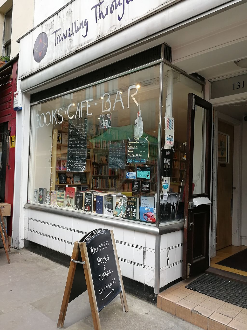 """Photo of Travelling Through  by <a href=""""/members/profile/DancingMillipede"""">DancingMillipede</a> <br/>entrance to the bookshop, go through and downstairs to find the cosy café :) <br/> March 11, 2018  - <a href='/contact/abuse/image/113991/369454'>Report</a>"""