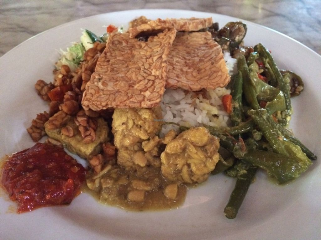 """Photo of Made's Warung  by <a href=""""/members/profile/Siup"""">Siup</a> <br/>Nasi campur vegetables  <br/> January 15, 2016  - <a href='/contact/abuse/image/11402/132458'>Report</a>"""