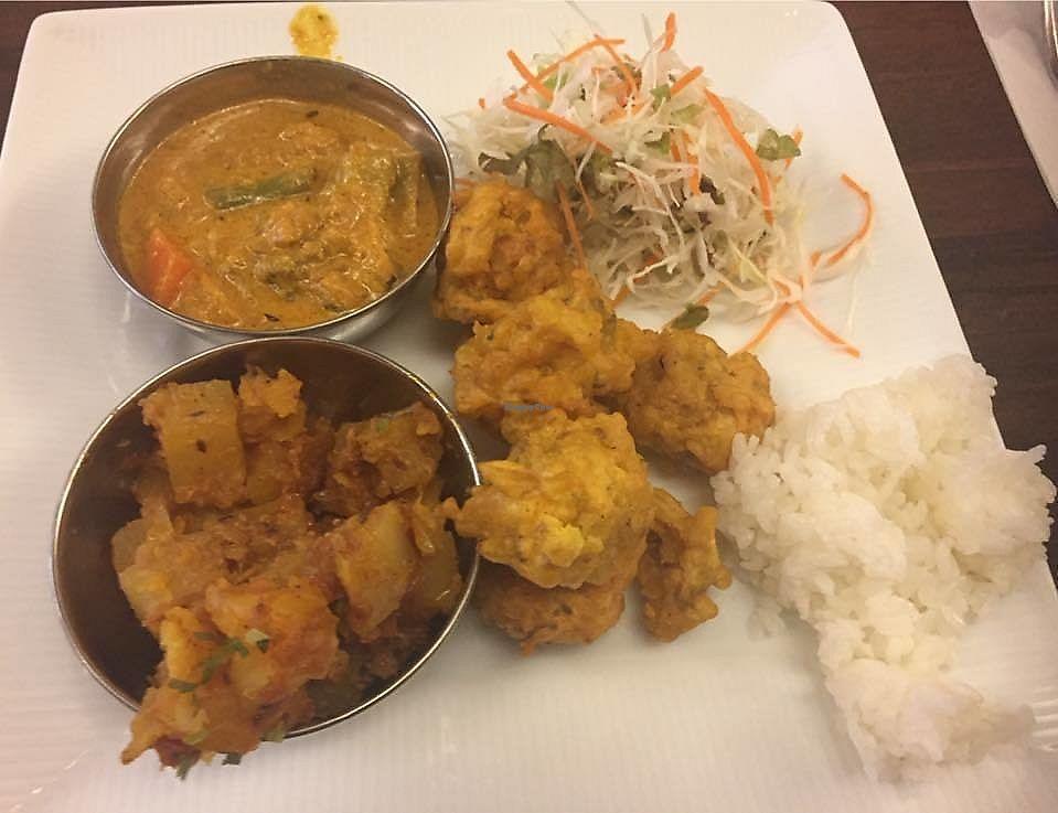 "Photo of Delhi Dining  by <a href=""/members/profile/StarKodama"">StarKodama</a> <br/>My vegan plate <br/> March 22, 2018  - <a href='/contact/abuse/image/114053/374362'>Report</a>"