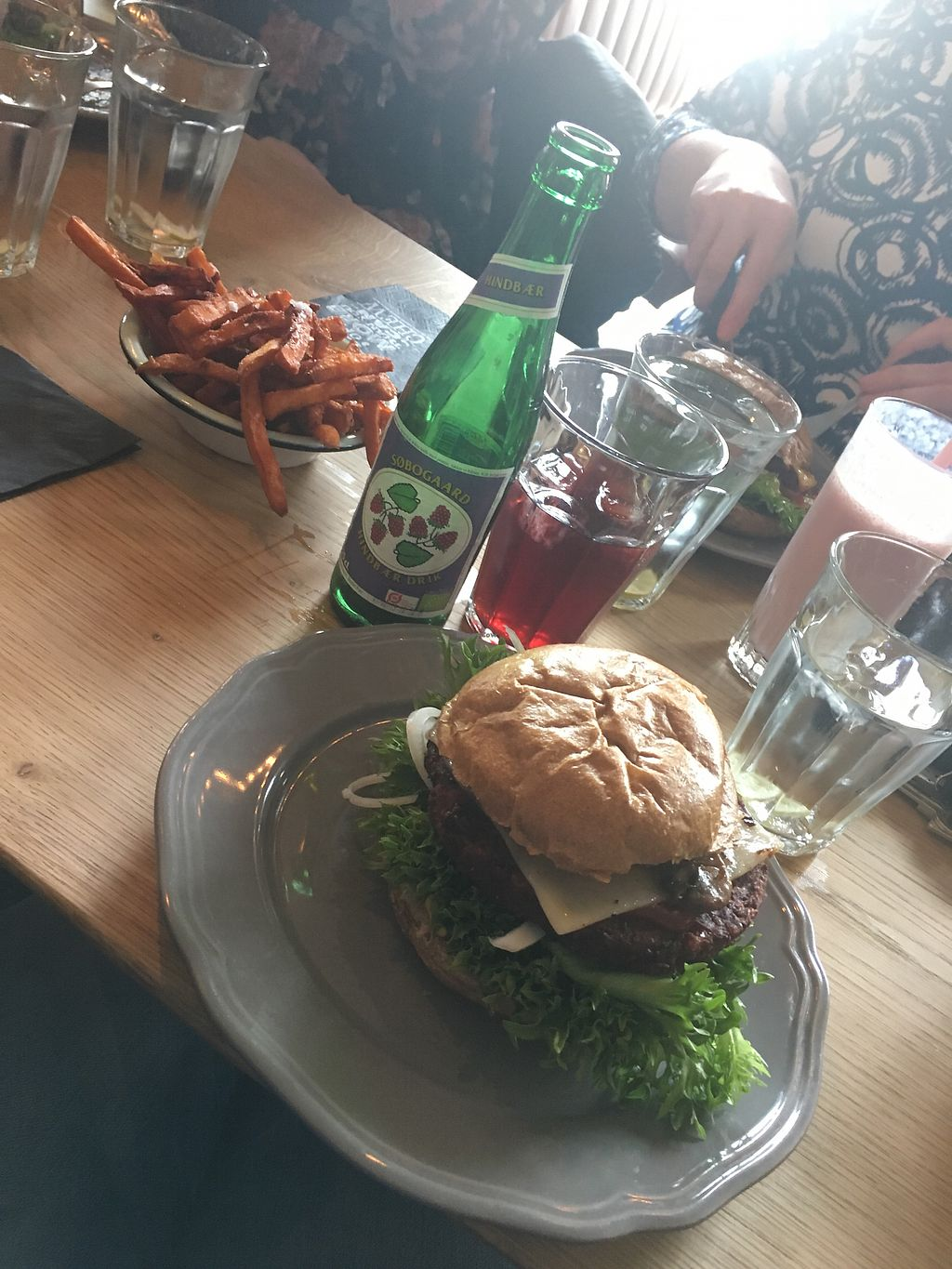 """Photo of Halifax Hillerød  by <a href=""""/members/profile/IdaJohansen"""">IdaJohansen</a> <br/>Vegan burgers and sweet potato fries fries <br/> March 10, 2018  - <a href='/contact/abuse/image/114074/368979'>Report</a>"""