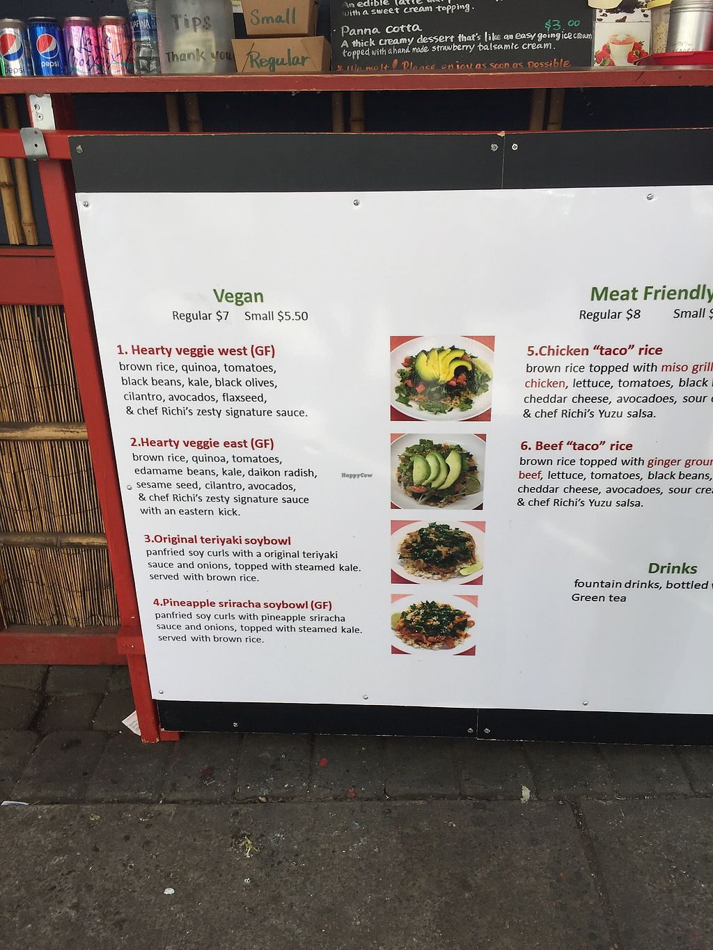 """Photo of Richi's - Food Cart  by <a href=""""/members/profile/schonstal"""">schonstal</a> <br/>Vegan bowls <br/> March 12, 2018  - <a href='/contact/abuse/image/114085/369930'>Report</a>"""