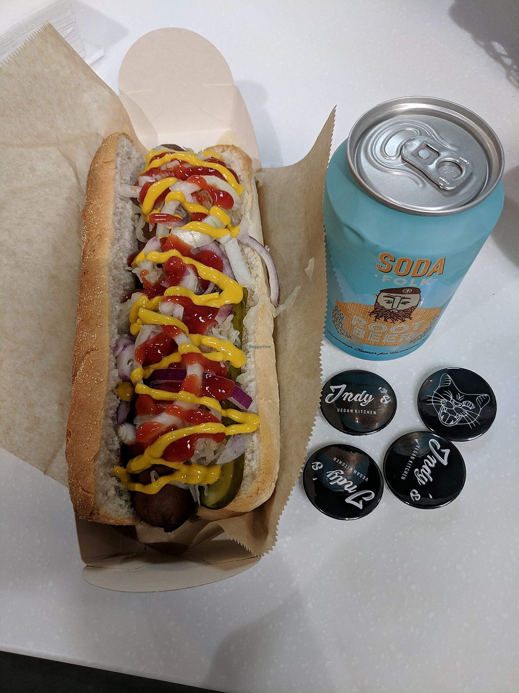 "Photo of Indy's Vegan Kitchen  by <a href=""/members/profile/nswain"">nswain</a> <br/>New York Hot Dog <br/> March 12, 2018  - <a href='/contact/abuse/image/114174/369944'>Report</a>"