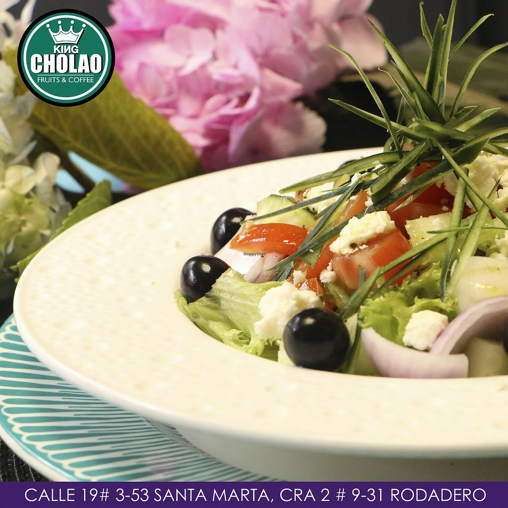 """Photo of King Cholao  by <a href=""""/members/profile/kingCholao"""">kingCholao</a> <br/>Greek salad, interesting flavors to share with friends, while you're in Santa Marta, You can also ask for the vegan option <br/> May 15, 2018  - <a href='/contact/abuse/image/114176/400228'>Report</a>"""