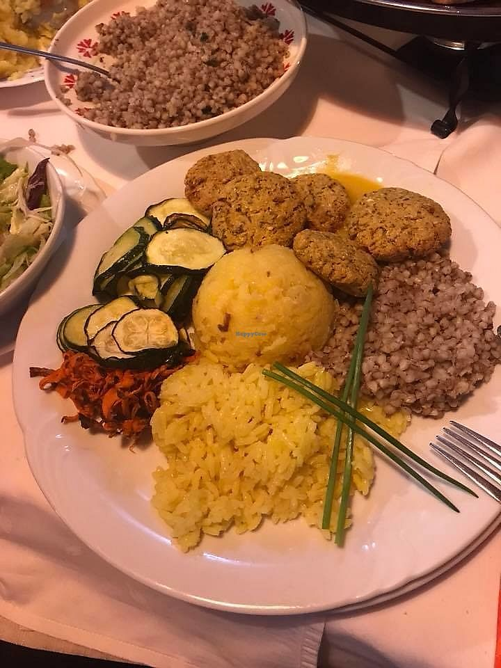 """Photo of Pri Mlinarju  by <a href=""""/members/profile/slovenianvegan"""">slovenianvegan</a> <br/>Vegan lunch.  Photo by: Pika K. on Facebook <br/> March 11, 2018  - <a href='/contact/abuse/image/114180/369334'>Report</a>"""