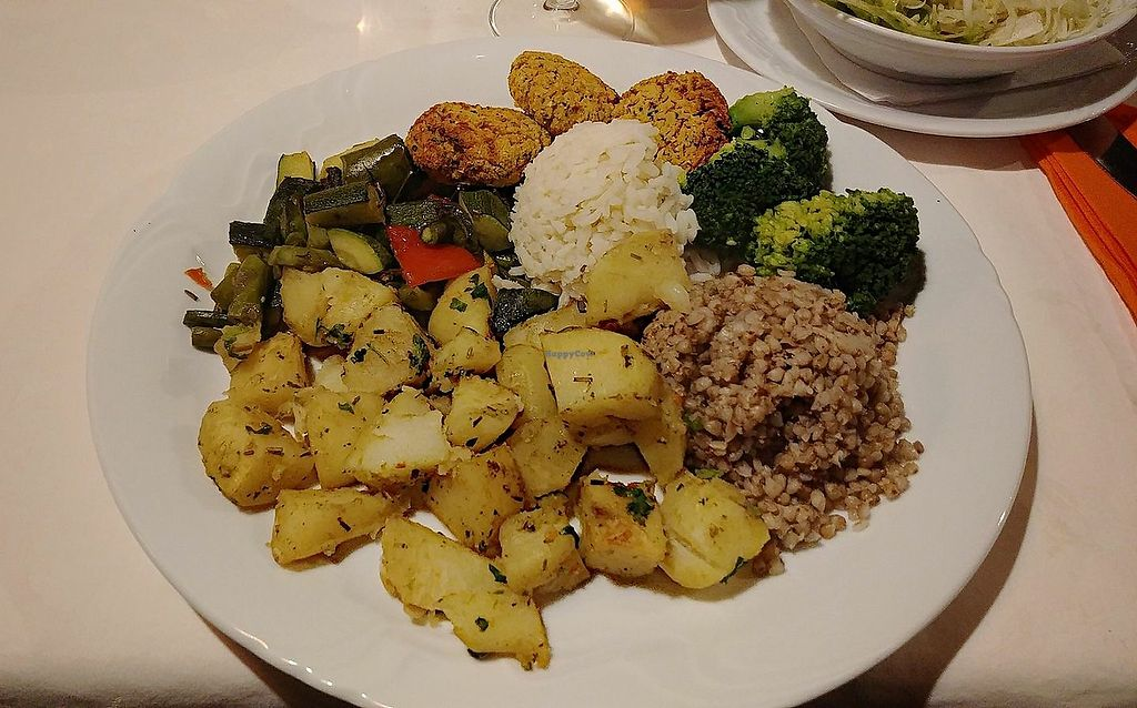 """Photo of Pri Mlinarju  by <a href=""""/members/profile/slovenianvegan"""">slovenianvegan</a> <br/>Vegan lunch. Photo by: Amy S. on Facebook <br/> April 21, 2018  - <a href='/contact/abuse/image/114180/389168'>Report</a>"""