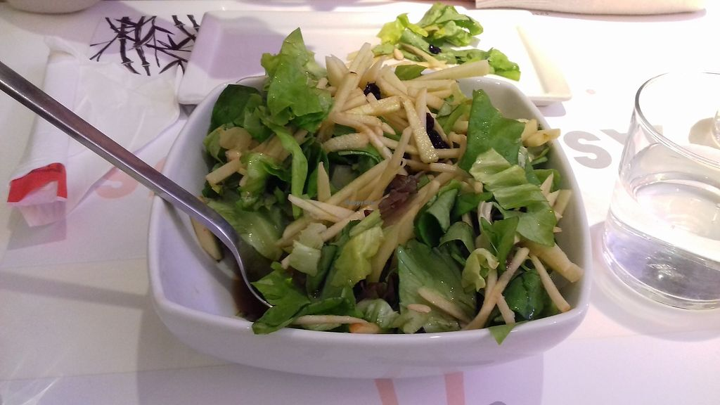 """Photo of Asian House  by <a href=""""/members/profile/natalia8118"""">natalia8118</a> <br/>Salad with lettuce, apple, seeds, dried grapes, balsamic vinegar <br/> March 11, 2018  - <a href='/contact/abuse/image/114210/369092'>Report</a>"""