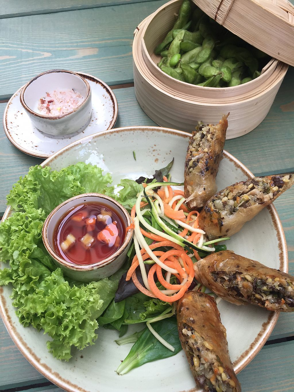 """Photo of Vietal-Kitchen  by <a href=""""/members/profile/AlexaDomachowski"""">AlexaDomachowski</a> <br/>Edamame and Fried Rice paper rolls.  <br/> May 20, 2018  - <a href='/contact/abuse/image/114240/402387'>Report</a>"""