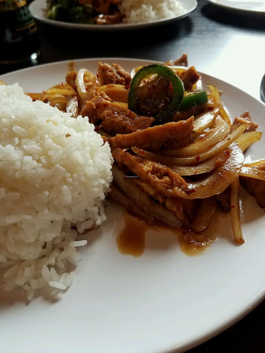"""Photo of Z's Asian Bistro  by <a href=""""/members/profile/Silly%20Little%20Vegan"""">Silly Little Vegan</a> <br/>Hot pepper tofu  <br/> March 11, 2018  - <a href='/contact/abuse/image/114265/369393'>Report</a>"""