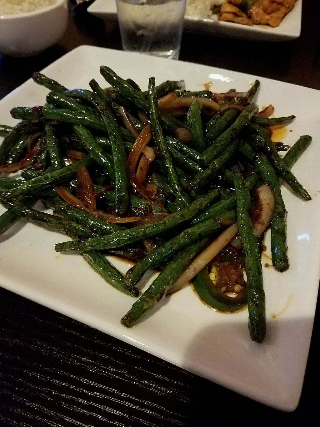 """Photo of Z's Asian Bistro  by <a href=""""/members/profile/Silly%20Little%20Vegan"""">Silly Little Vegan</a> <br/>Ma La String Beans <br/> March 11, 2018  - <a href='/contact/abuse/image/114265/369394'>Report</a>"""