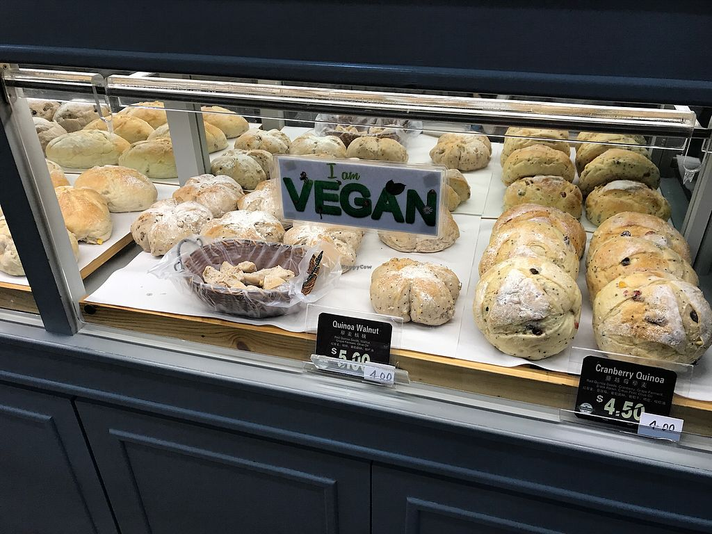 "Photo of Duke Bakery - Paya Lebar Square  by <a href=""/members/profile/Sweetveganneko"">Sweetveganneko</a> <br/>New breads labelled vegan <br/> March 14, 2018  - <a href='/contact/abuse/image/114322/370424'>Report</a>"