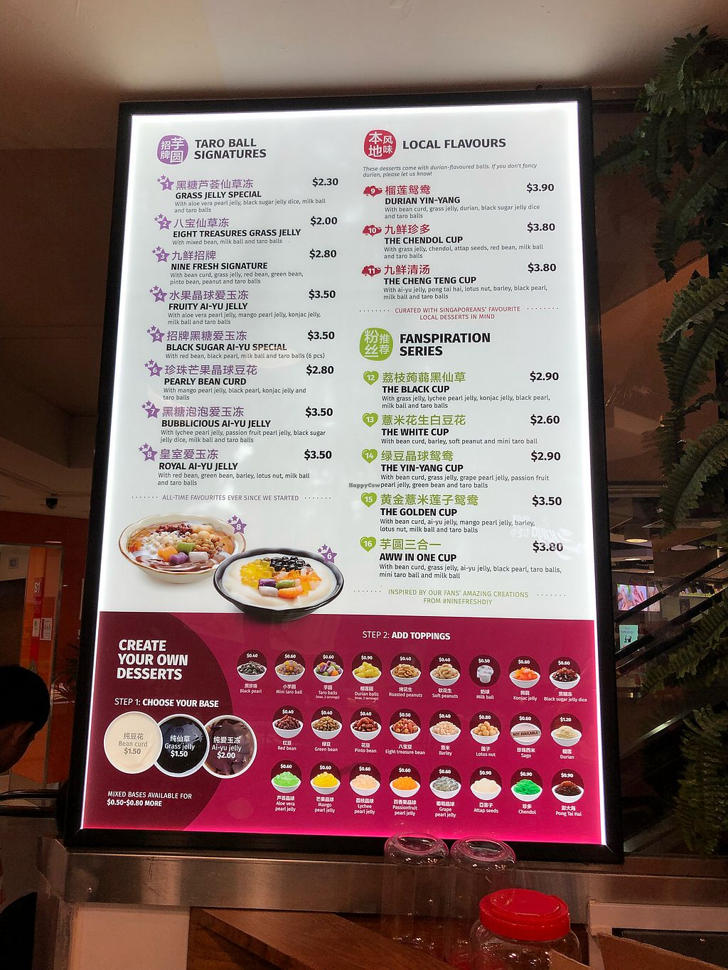 """Photo of Nine Fresh - Hougang Mall  by <a href=""""/members/profile/CherylQuincy"""">CherylQuincy</a> <br/>Menu <br/> March 21, 2018  - <a href='/contact/abuse/image/114329/373825'>Report</a>"""