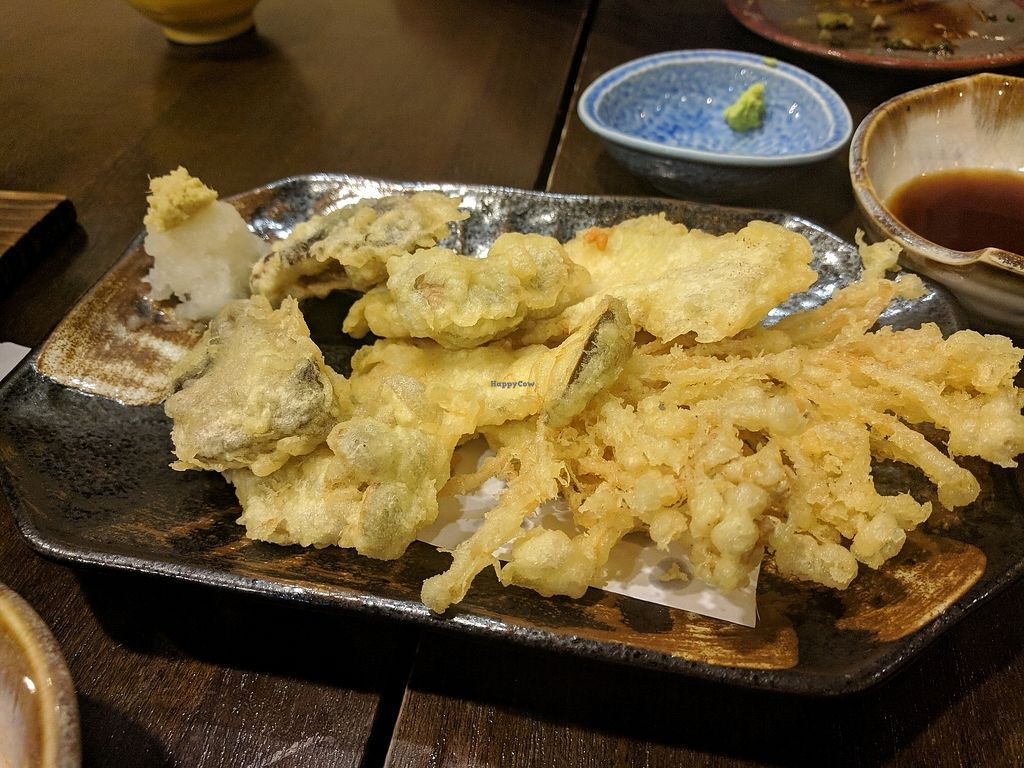 """Photo of Kitsune  by <a href=""""/members/profile/VeganSoapDude"""">VeganSoapDude</a> <br/>Mushroom tempura <br/> March 13, 2018  - <a href='/contact/abuse/image/114383/370083'>Report</a>"""