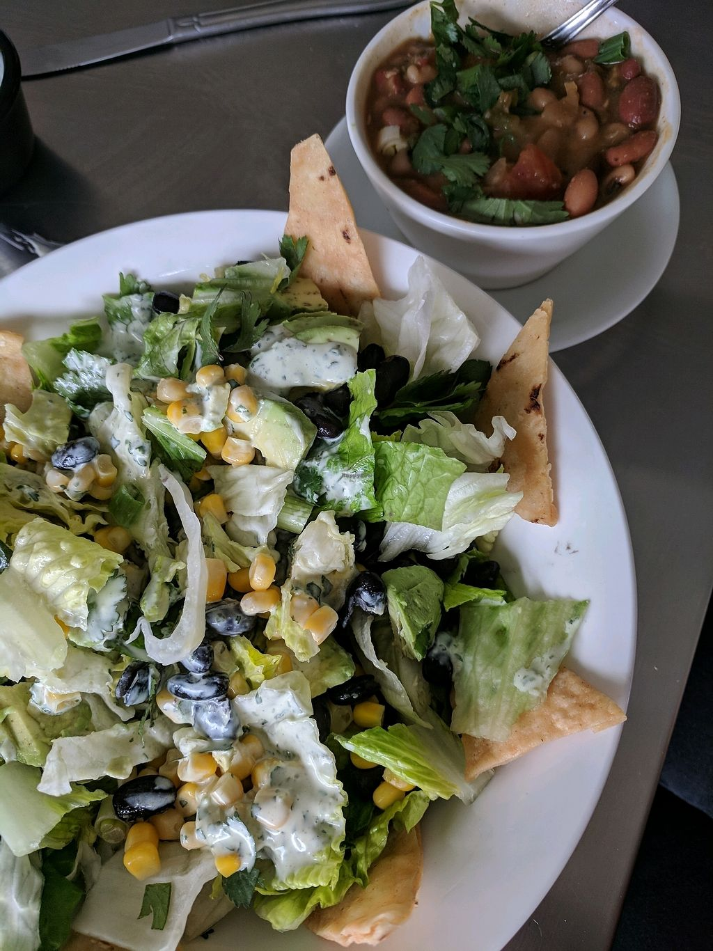 """Photo of Galley Bite  by <a href=""""/members/profile/canvy"""">canvy</a> <br/>Southwest Salad and Vegan bean soup. Delish! <br/> March 13, 2018  - <a href='/contact/abuse/image/114435/370197'>Report</a>"""