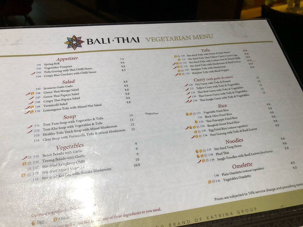 """Photo of Bali Thai - Causeway Point  by <a href=""""/members/profile/CherylQuincy"""">CherylQuincy</a> <br/>Vegetarian/vegan menu.  <br/> March 13, 2018  - <a href='/contact/abuse/image/114444/370205'>Report</a>"""