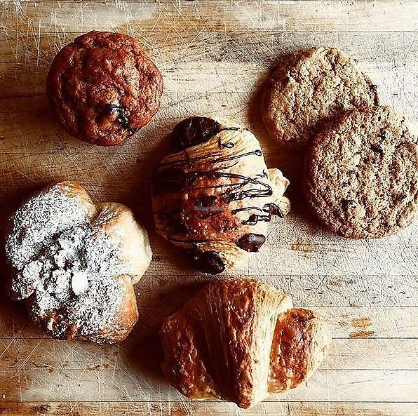 """Photo of Crumbs Bakery  by <a href=""""/members/profile/turtleveg"""">turtleveg</a> <br/>Crumbs vegan pastries available at Global Breath yoga studio <br/> March 13, 2018  - <a href='/contact/abuse/image/114490/370313'>Report</a>"""