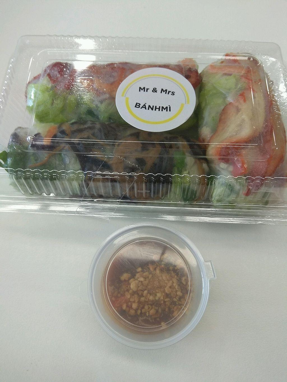 "Photo of Mr & Mrs Banhmi  by <a href=""/members/profile/GabriellaRuby"">GabriellaRuby</a> <br/>vegan pork, vegan duck and mixed mushroom rice paper rolls ?? <br/> March 16, 2018  - <a href='/contact/abuse/image/114519/371159'>Report</a>"