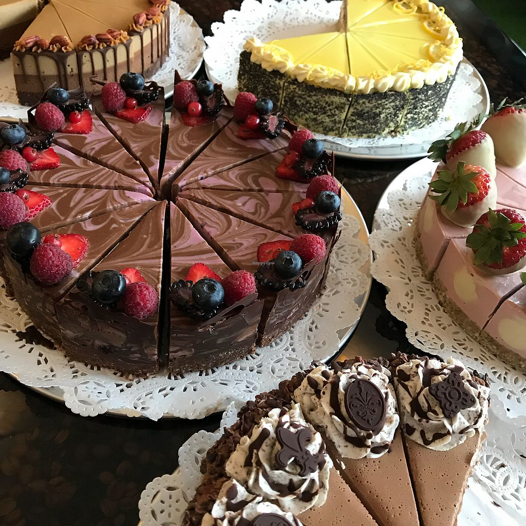 """Photo of Rawnaissance  by <a href=""""/members/profile/rawnaissance"""">rawnaissance</a> <br/>Raw, organic, vegan cakes by the slice <br/> April 5, 2018  - <a href='/contact/abuse/image/114527/381293'>Report</a>"""