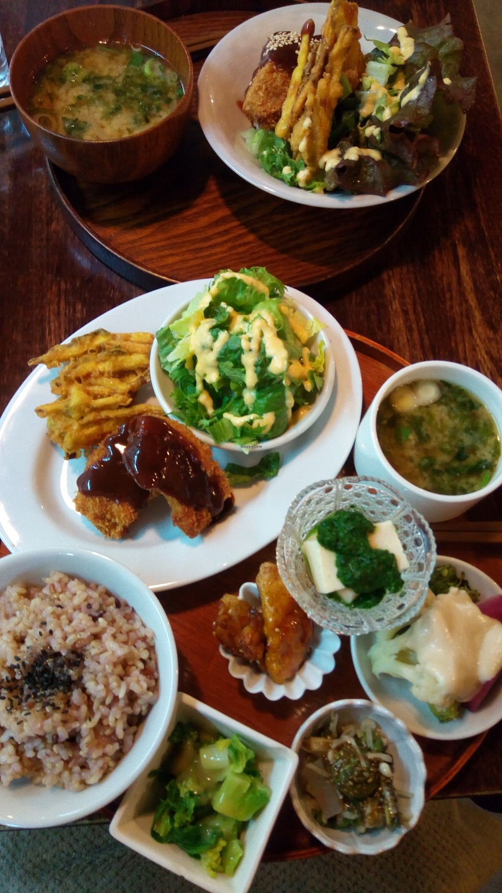 "Photo of Yamagoya  by <a href=""/members/profile/takanakamura"">takanakamura</a> <br/>Lunch of the day (everything is plant-based and made of local organic produce) <br/> March 14, 2018  - <a href='/contact/abuse/image/114531/370409'>Report</a>"