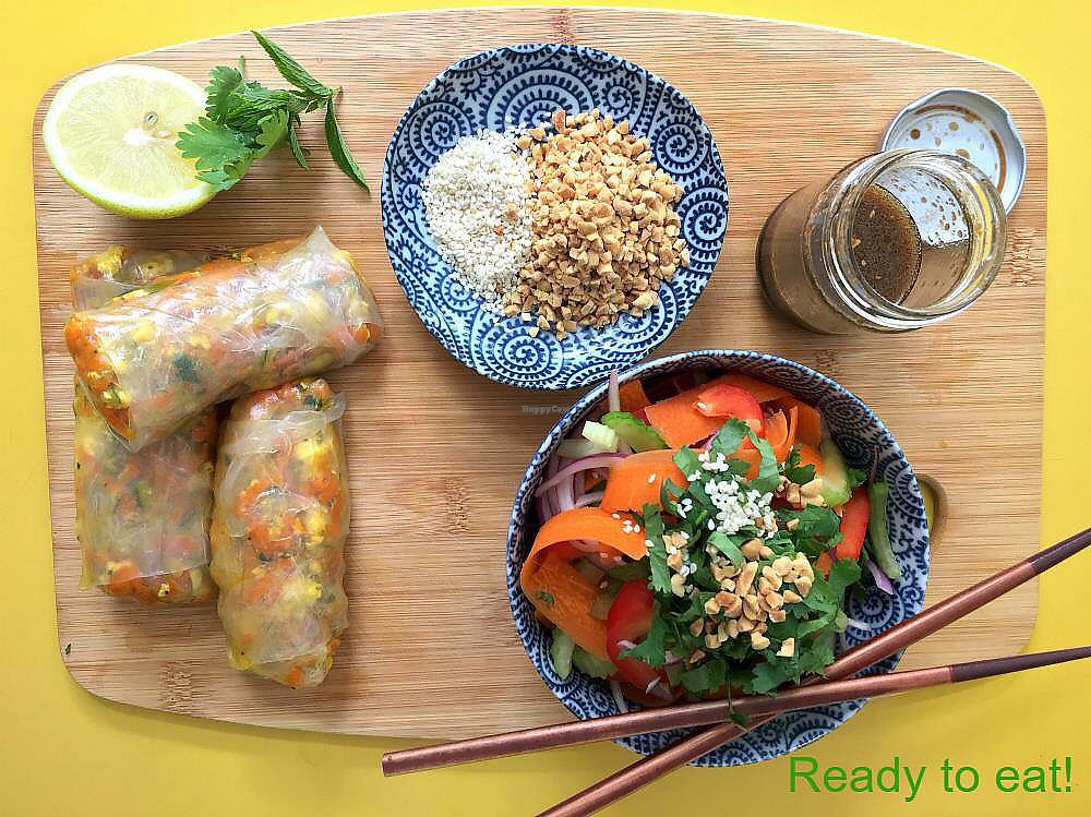"""Photo of 3 Green Meals  by <a href=""""/members/profile/ClarkeVincent"""">ClarkeVincent</a> <br/>Rice paper wraps <br/> March 14, 2018  - <a href='/contact/abuse/image/114537/370717'>Report</a>"""