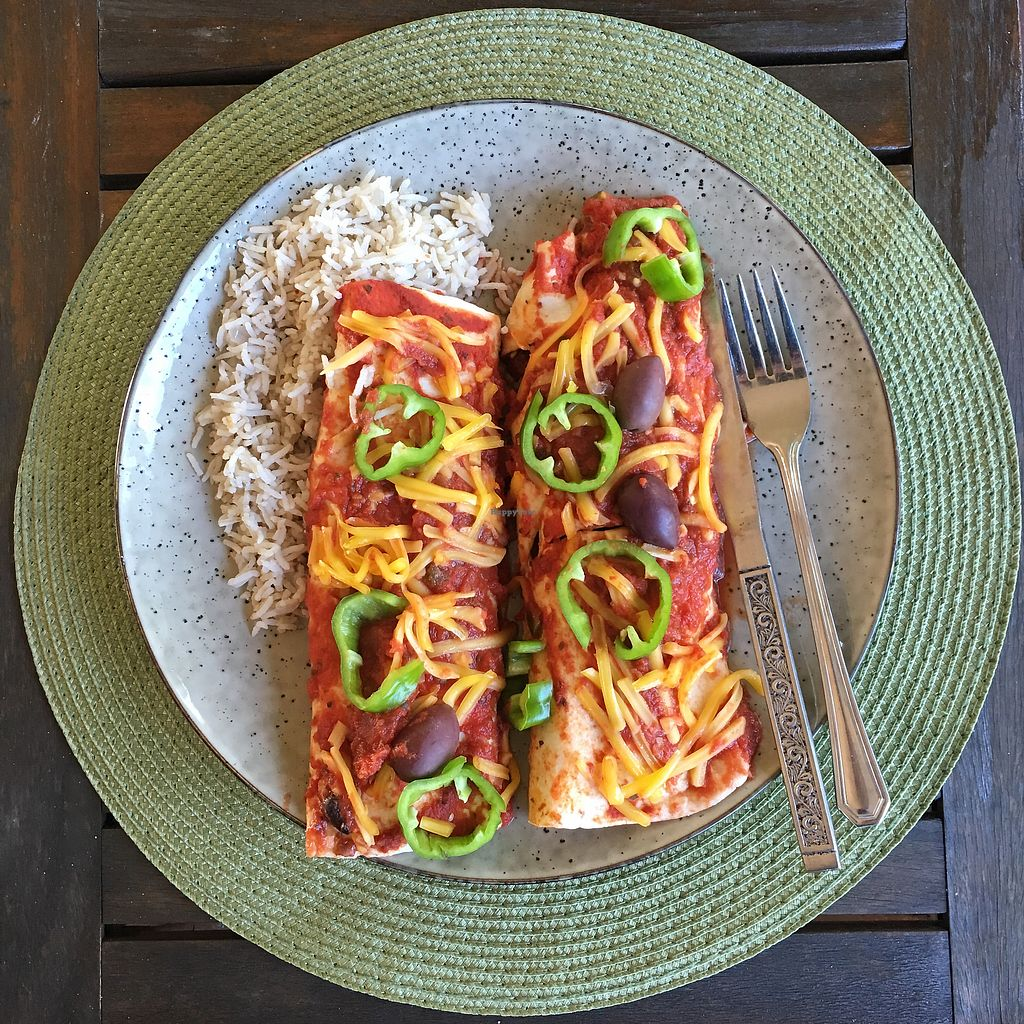 """Photo of 3 Green Meals  by <a href=""""/members/profile/ClarkeVincent"""">ClarkeVincent</a> <br/>Enormous Enchiladas  <br/> March 14, 2018  - <a href='/contact/abuse/image/114537/370721'>Report</a>"""