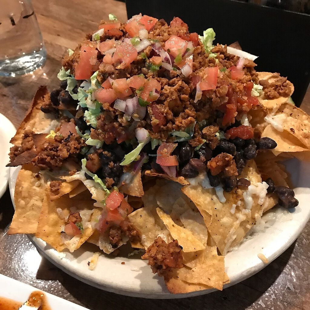 """Photo of Tortilla West  by <a href=""""/members/profile/rlberthi"""">rlberthi</a> <br/>Vegan nachos with housemade vegan chorizo and vegan cheese. These were AMAZING!!!! <br/> March 26, 2018  - <a href='/contact/abuse/image/114566/376528'>Report</a>"""