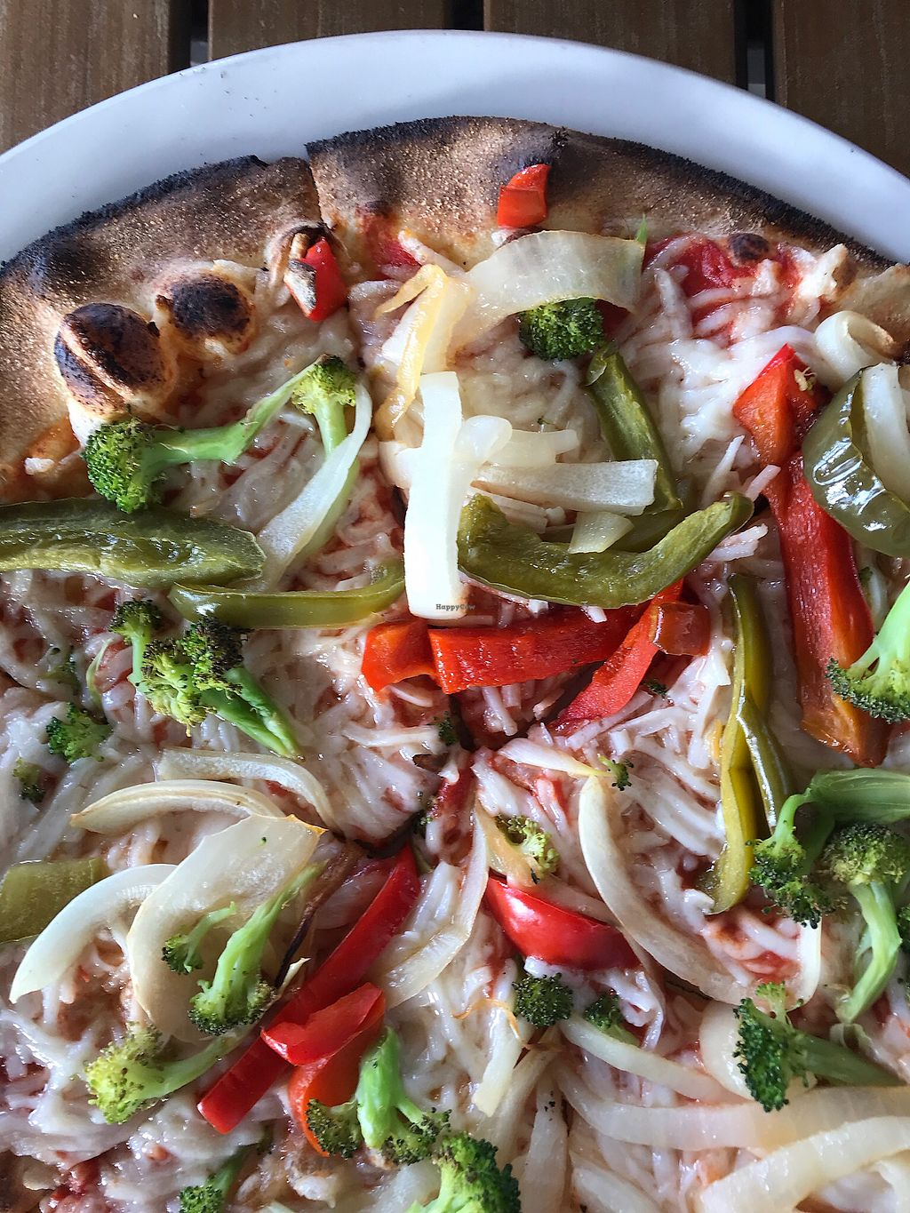 "Photo of Brixx Wood Fired Pizza  by <a href=""/members/profile/jenvth"">jenvth</a> <br/>Wood fired veggie made vegan - no mushrooms  <br/> April 6, 2018  - <a href='/contact/abuse/image/114570/381724'>Report</a>"