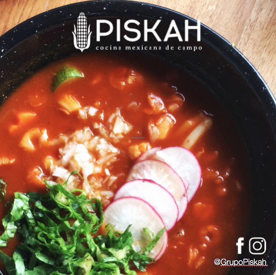 "Photo of Piskah  by <a href=""/members/profile/mmiuxx%40gmail.com"">mmiuxx@gmail.com</a> <br/>Pozole del Huerto (Vegano) <br/> March 14, 2018  - <a href='/contact/abuse/image/114579/370665'>Report</a>"
