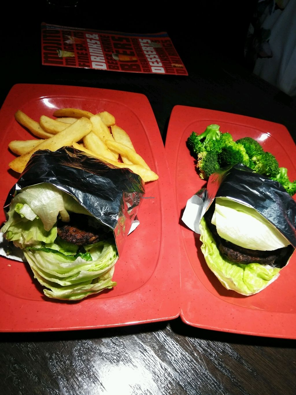 """Photo of Red Robin  by <a href=""""/members/profile/Tonydetra"""">Tonydetra</a> <br/>Vegan Burgers <br/> March 15, 2018  - <a href='/contact/abuse/image/114610/370807'>Report</a>"""