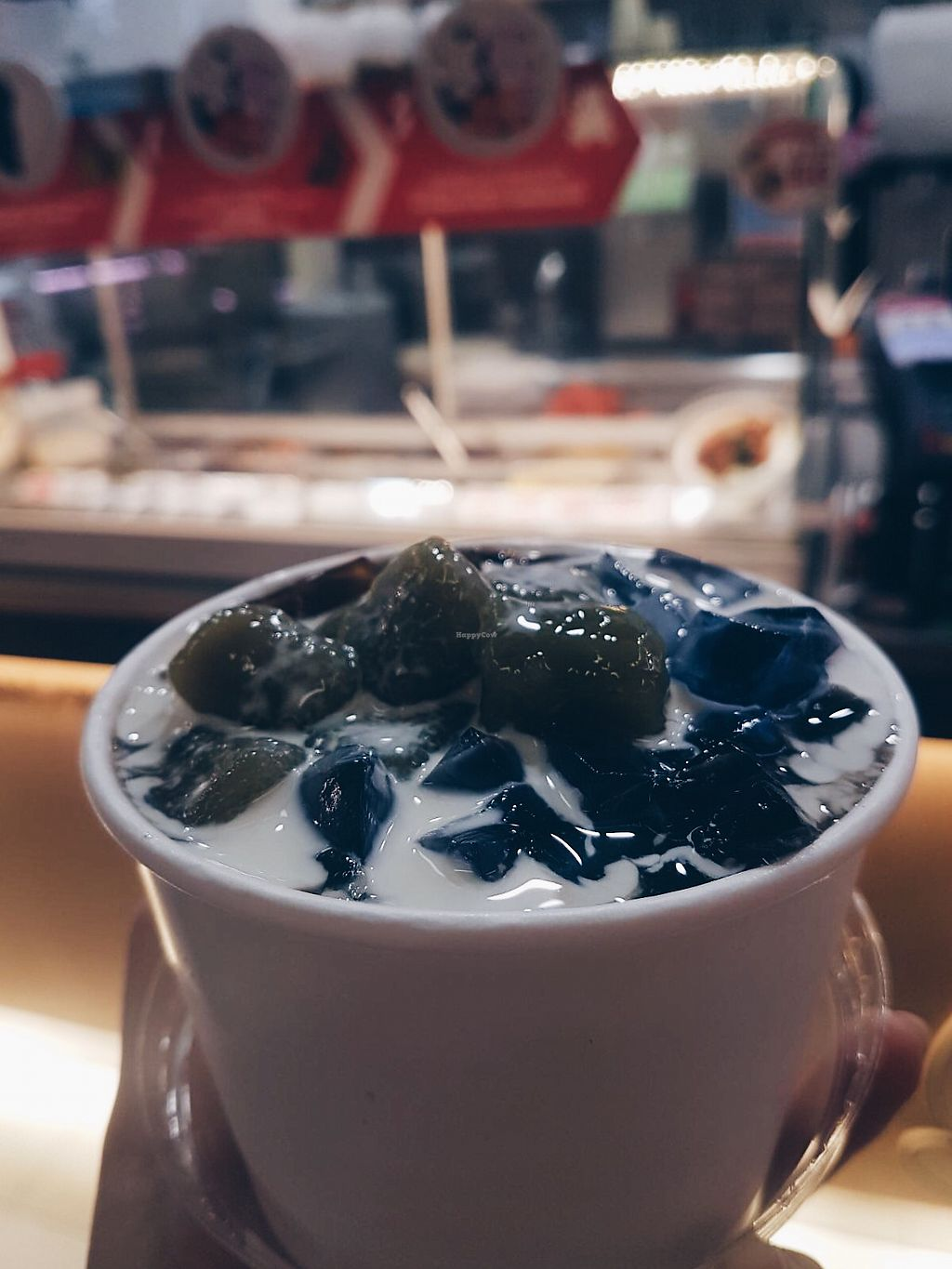 "Photo of You've Bean Teased - Hillion Mall  by <a href=""/members/profile/consciouscookieee"">consciouscookieee</a> <br/>You've Bean Teased beancurd & grass jelly with butterfly pea jelly, earl grey jelly & matcha balls <br/> April 8, 2018  - <a href='/contact/abuse/image/114643/382546'>Report</a>"