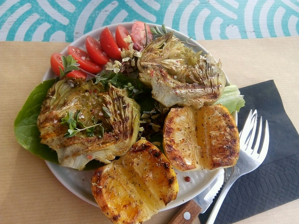 "Photo of Nemobar  by <a href=""/members/profile/nemobar"">nemobar</a> <br/>grilled artichok with marjoram <br/> March 17, 2018  - <a href='/contact/abuse/image/114652/371989'>Report</a>"