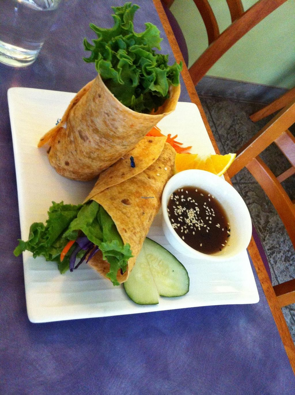 """Photo of Sweet Lemon Vegan Bistro  by <a href=""""/members/profile/Posi%20Britt"""">Posi Britt</a> <br/>Rainbow wrap! <br/> June 25, 2014  - <a href='/contact/abuse/image/11468/72766'>Report</a>"""