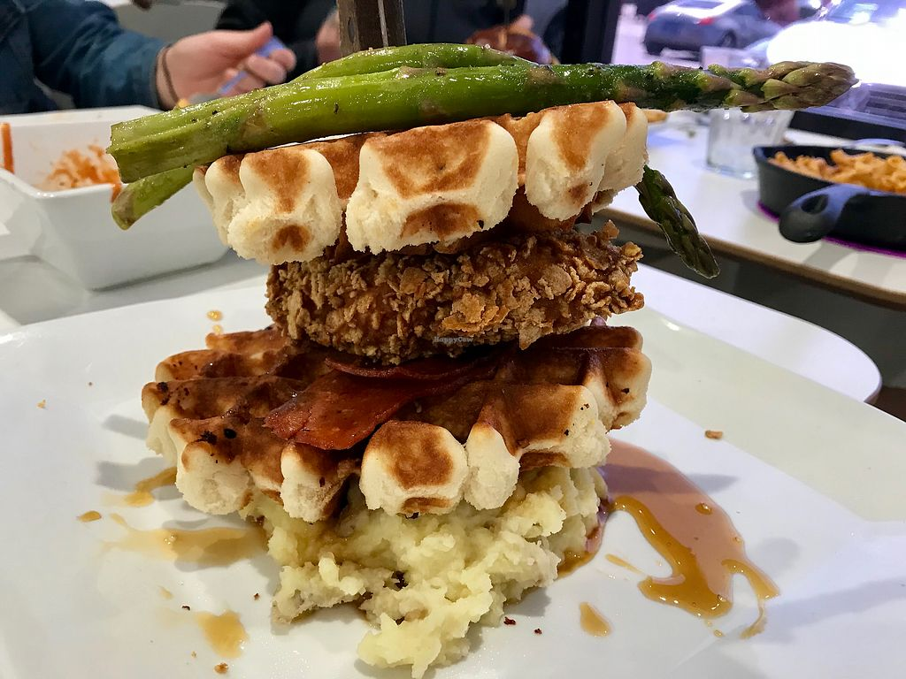"""Photo of The Modern Vegan  by <a href=""""/members/profile/TheShadow"""">TheShadow</a> <br/>Chicken and waffles <br/> April 12, 2018  - <a href='/contact/abuse/image/114695/384763'>Report</a>"""