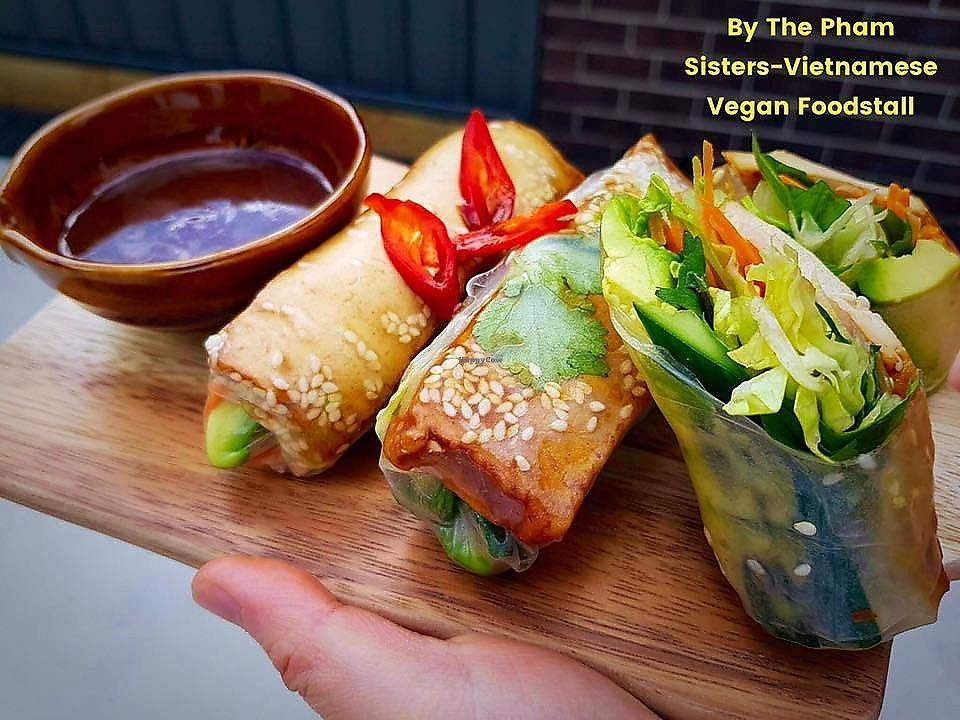 """Photo of The Pham Sisters  by <a href=""""/members/profile/verbosity"""">verbosity</a> <br/>Teriyaki Tofu with Avocado Rice Paper Rolls <br/> March 16, 2018  - <a href='/contact/abuse/image/114708/371507'>Report</a>"""
