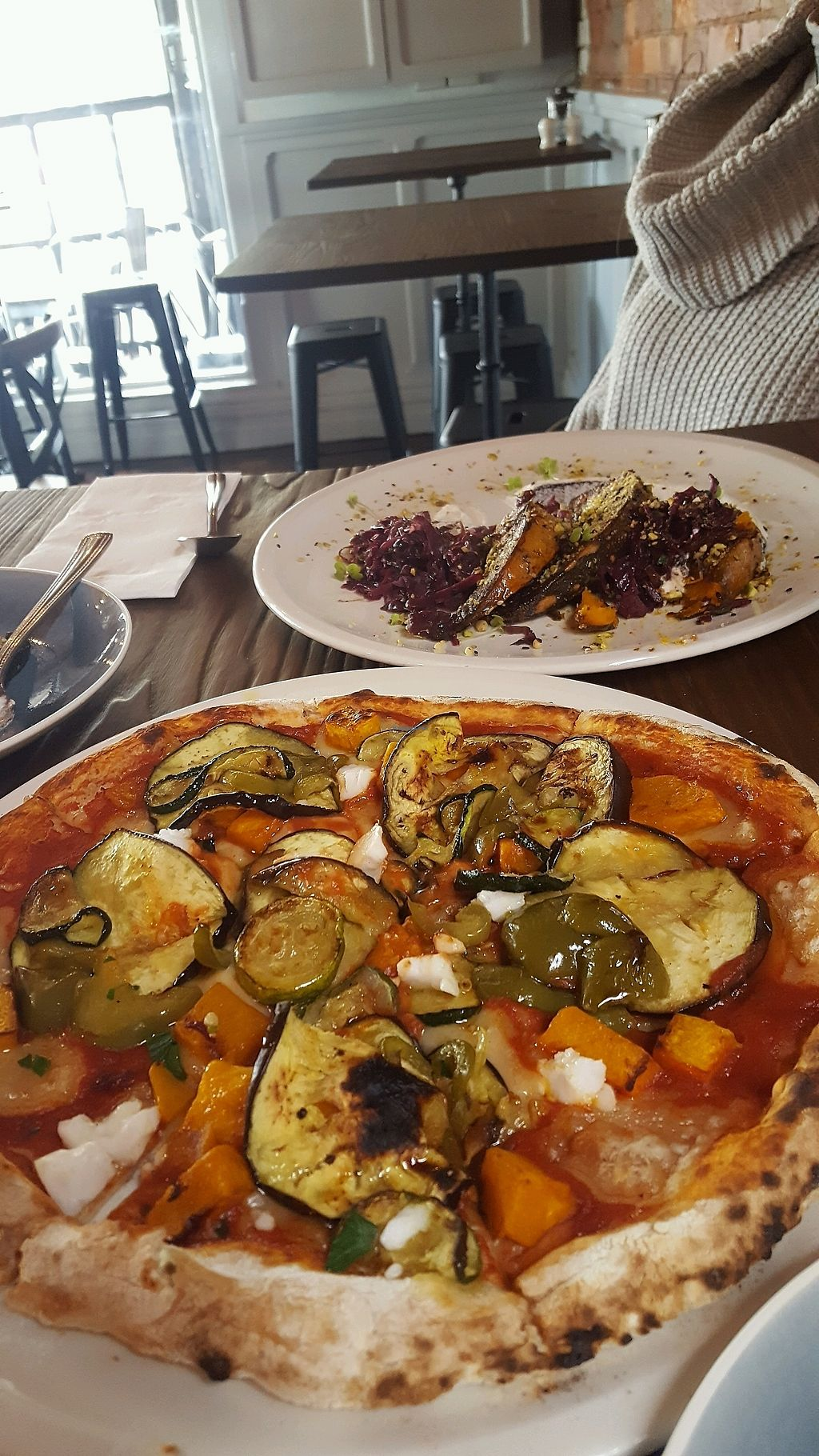"""Photo of Billy & Lucy  by <a href=""""/members/profile/Christoveg"""">Christoveg</a> <br/>Pizza & Dukkah Spiced Pumpkin  <br/> March 24, 2018  - <a href='/contact/abuse/image/114715/375098'>Report</a>"""