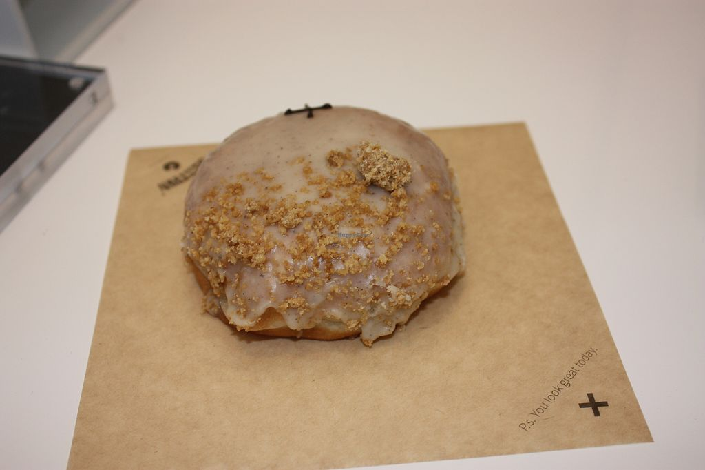 """Photo of Crosstown Vegan  by <a href=""""/members/profile/Vegancucc"""">Vegancucc</a> <br/>Apple crumble doughnut <br/> March 19, 2018  - <a href='/contact/abuse/image/114749/373021'>Report</a>"""