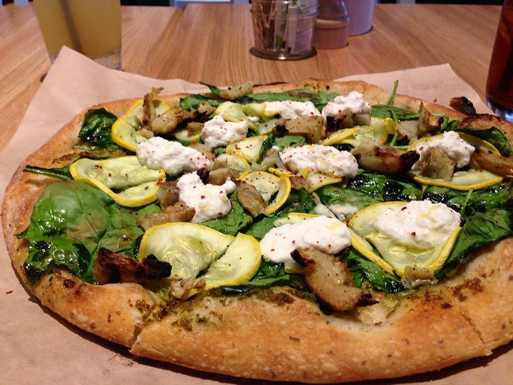 """Photo of True Food Kitchen  by <a href=""""/members/profile/MelaniedaPonte"""">MelaniedaPonte</a> <br/>Artichoke Pesto Pizza <br/> April 18, 2018  - <a href='/contact/abuse/image/114753/387647'>Report</a>"""