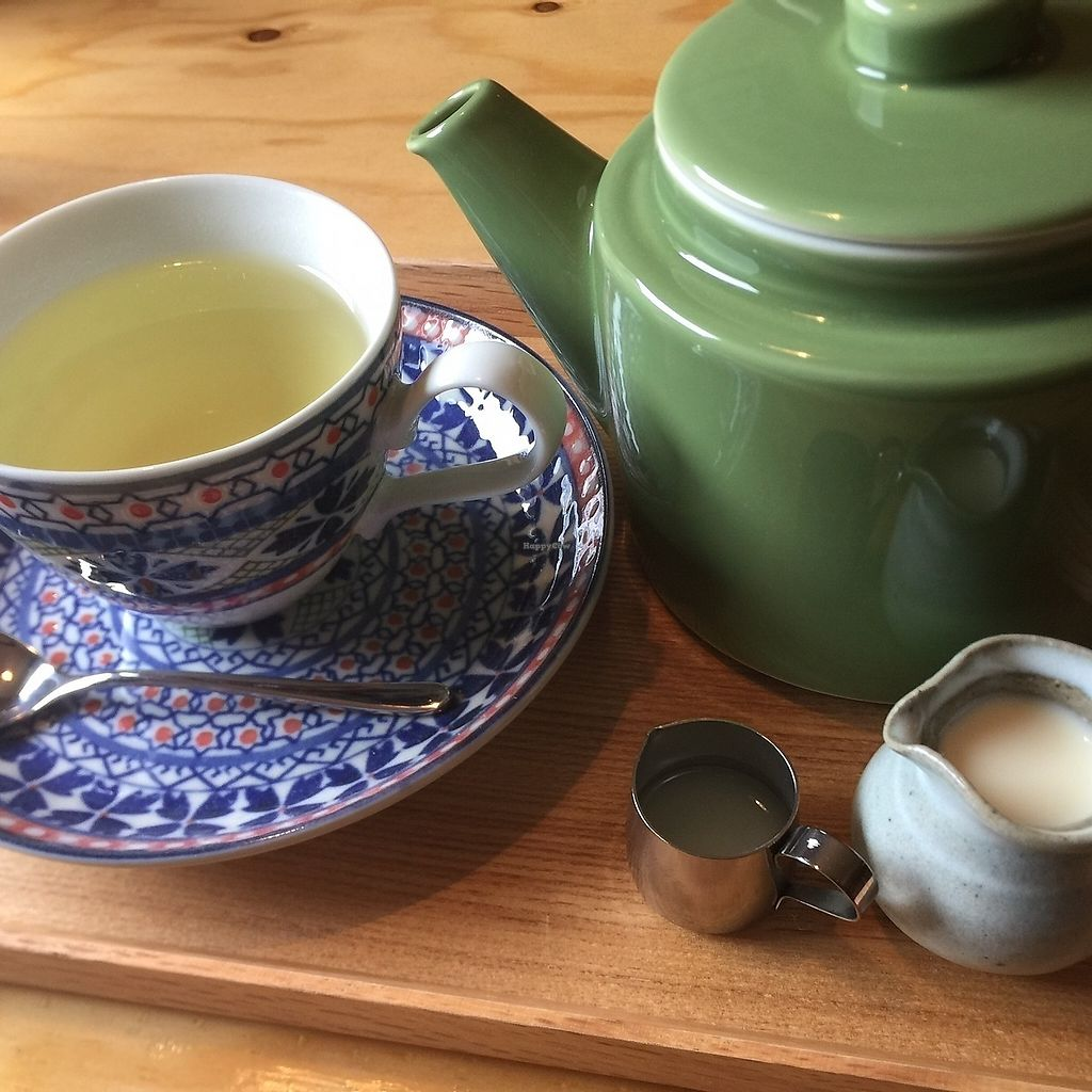 """Photo of Veggie Joint  by <a href=""""/members/profile/giruja"""">giruja</a> <br/>Organic lemongrass tea (with lemon juice and/or soy milk) <br/> March 21, 2018  - <a href='/contact/abuse/image/114782/373708'>Report</a>"""