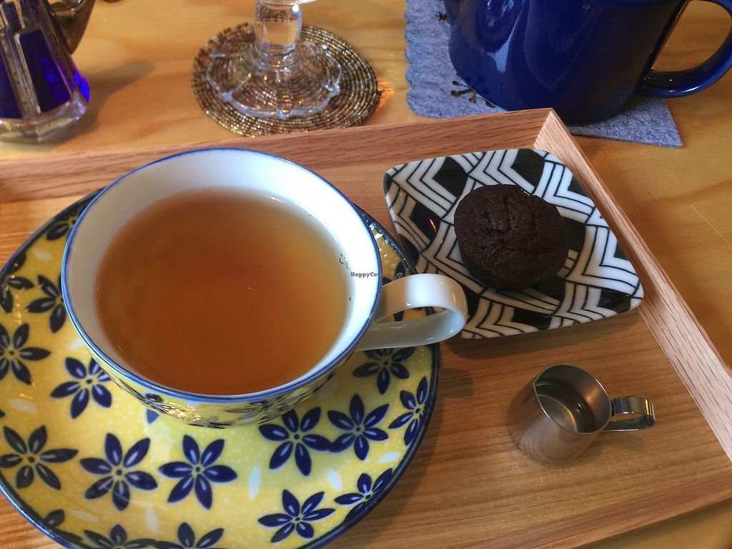 """Photo of Veggie Joint  by <a href=""""/members/profile/giruja"""">giruja</a> <br/>Tea with delicious guilt-free vegan brownies!!! <br/> April 8, 2018  - <a href='/contact/abuse/image/114782/382347'>Report</a>"""