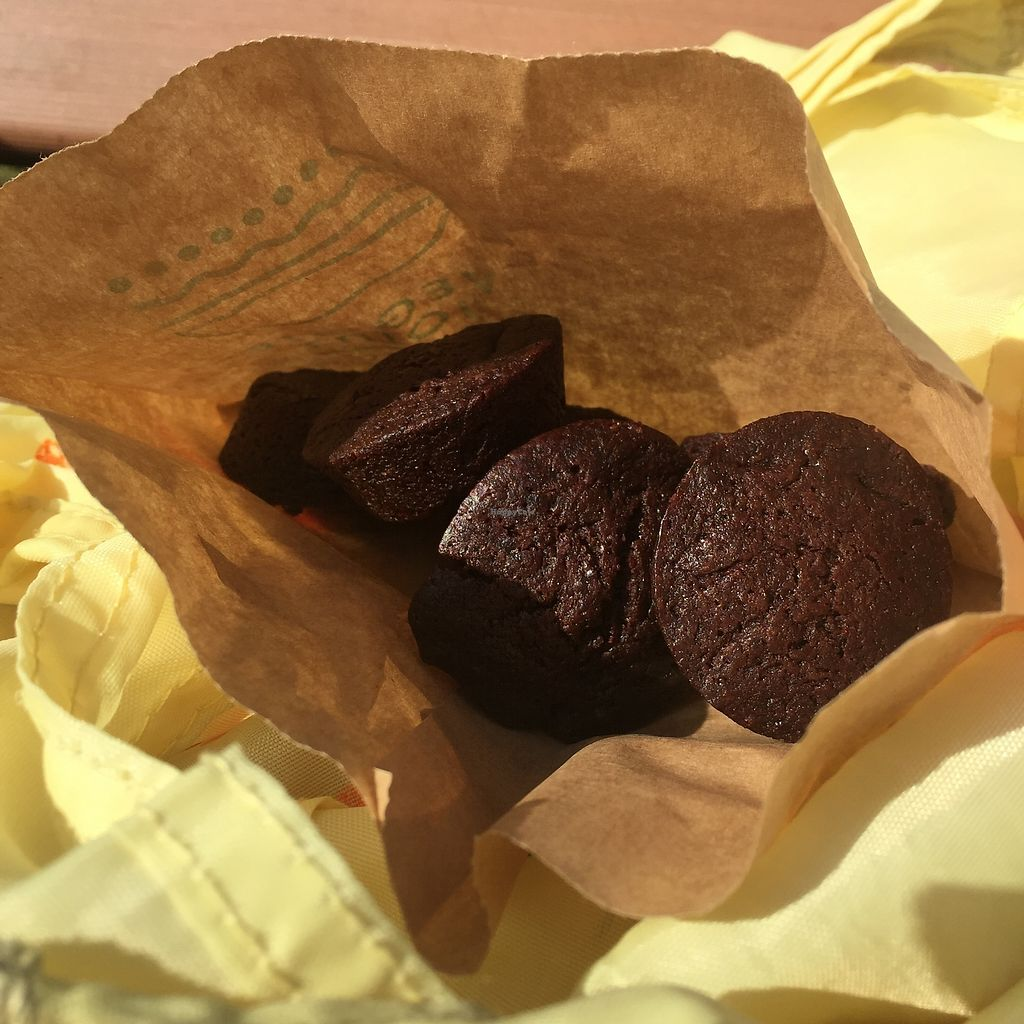 """Photo of Veggie Joint  by <a href=""""/members/profile/giruja"""">giruja</a> <br/>Delicious guilt-free vegan brownies!!! <br/> April 8, 2018  - <a href='/contact/abuse/image/114782/382348'>Report</a>"""