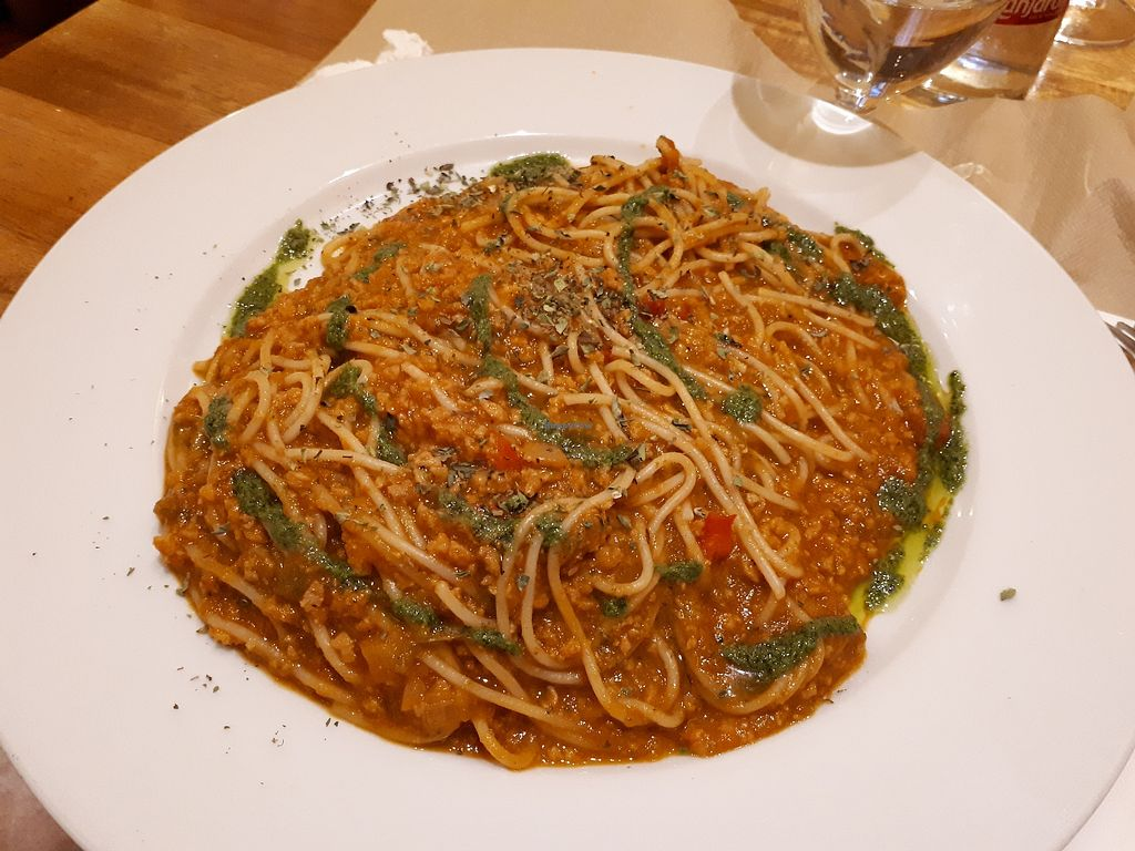 "Photo of Canadu  by <a href=""/members/profile/FulviaGherardelli"">FulviaGherardelli</a> <br/>Spaghetti bolognese with pesto <br/> April 3, 2018  - <a href='/contact/abuse/image/1147/380155'>Report</a>"