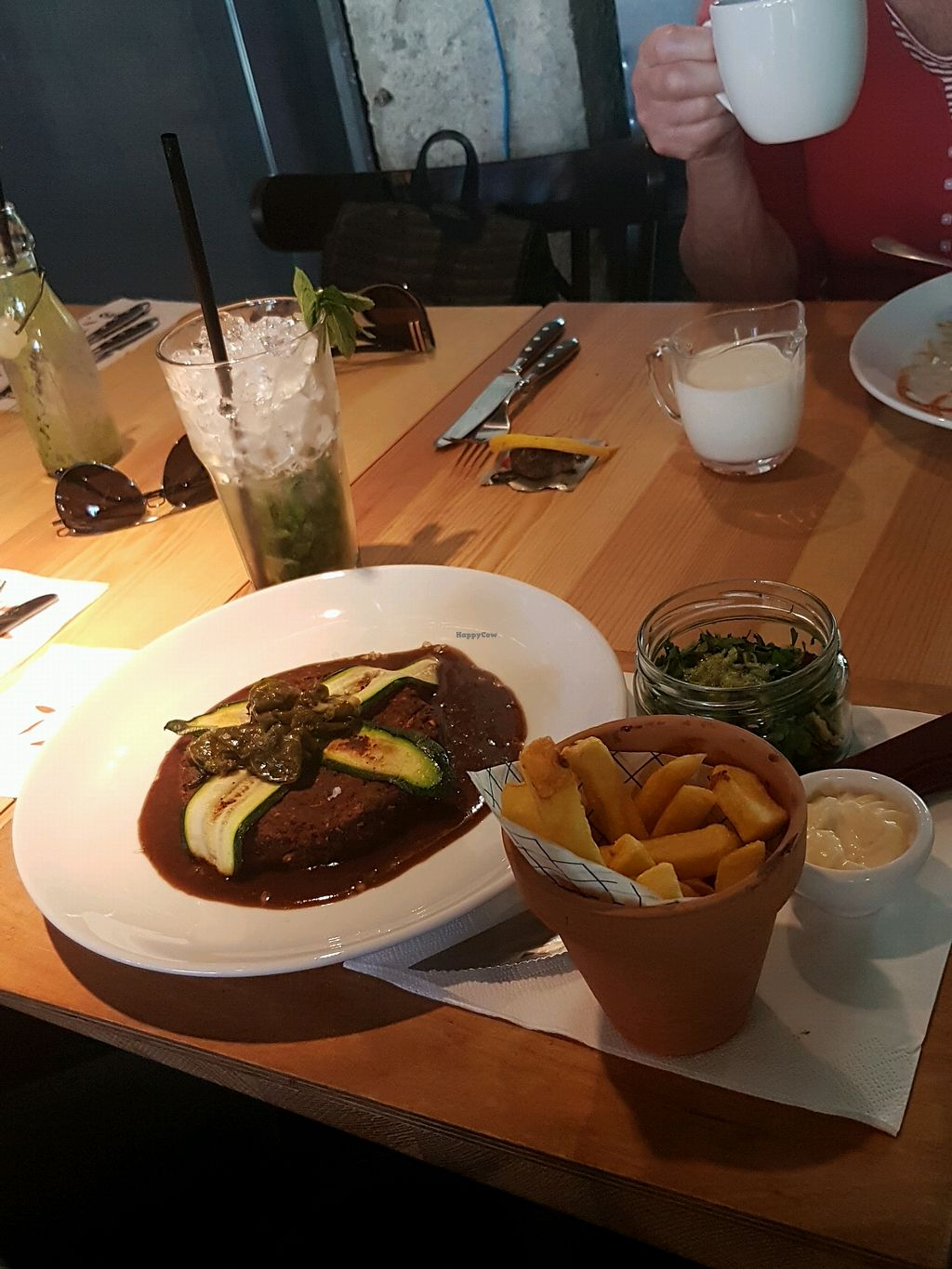 """Photo of Orzo People Music Nature  by <a href=""""/members/profile/PerrySwift"""">PerrySwift</a> <br/>vegan steak, fries and mayo <br/> April 20, 2018  - <a href='/contact/abuse/image/114841/388769'>Report</a>"""
