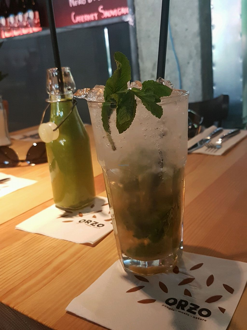"""Photo of Orzo People Music Nature  by <a href=""""/members/profile/PerrySwift"""">PerrySwift</a> <br/>alcohol free mojito and smoothie <br/> April 20, 2018  - <a href='/contact/abuse/image/114841/388770'>Report</a>"""