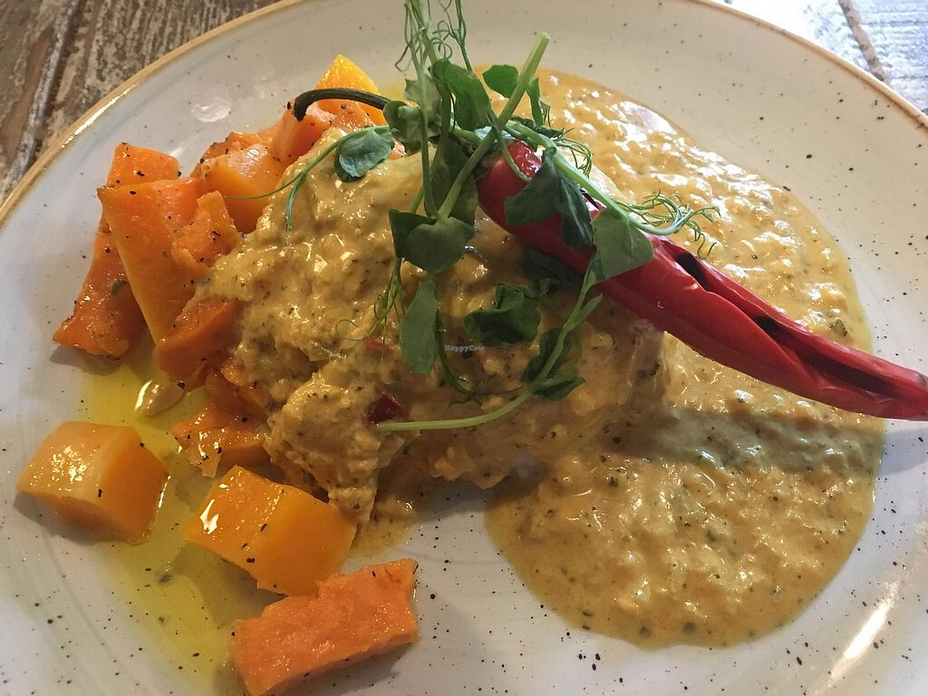 """Photo of The Oat Sheaf  by <a href=""""/members/profile/kasakaa"""">kasakaa</a> <br/>Spiced coconut curry (main) <br/> April 8, 2018  - <a href='/contact/abuse/image/114845/382516'>Report</a>"""